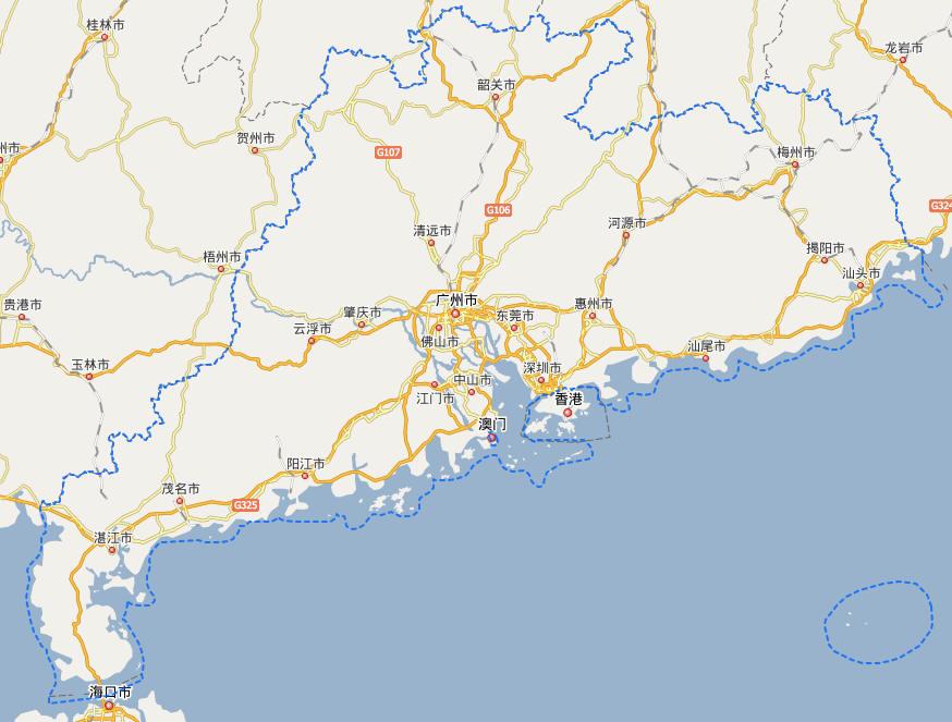 广东省地级市分布图