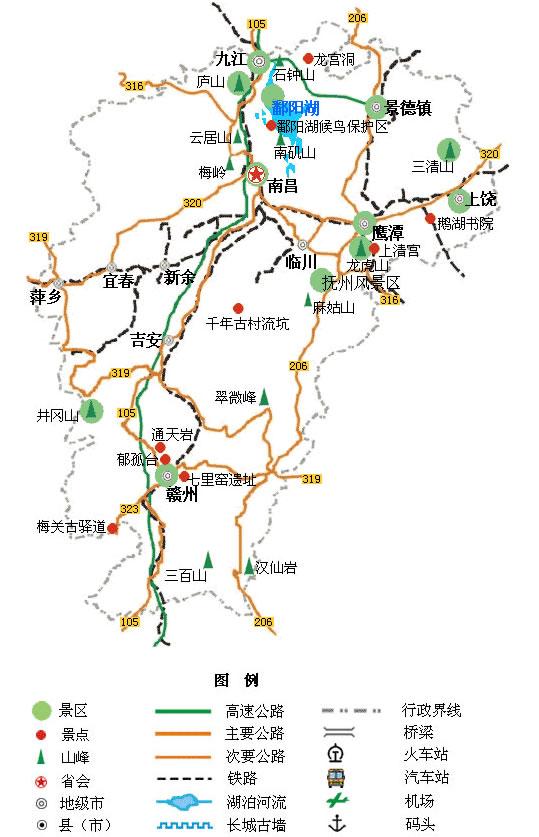 江西旅游景点地图 - 青海景点地图 - 青海省旅游交通